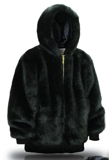 Mens Faux Fur Parka Coat