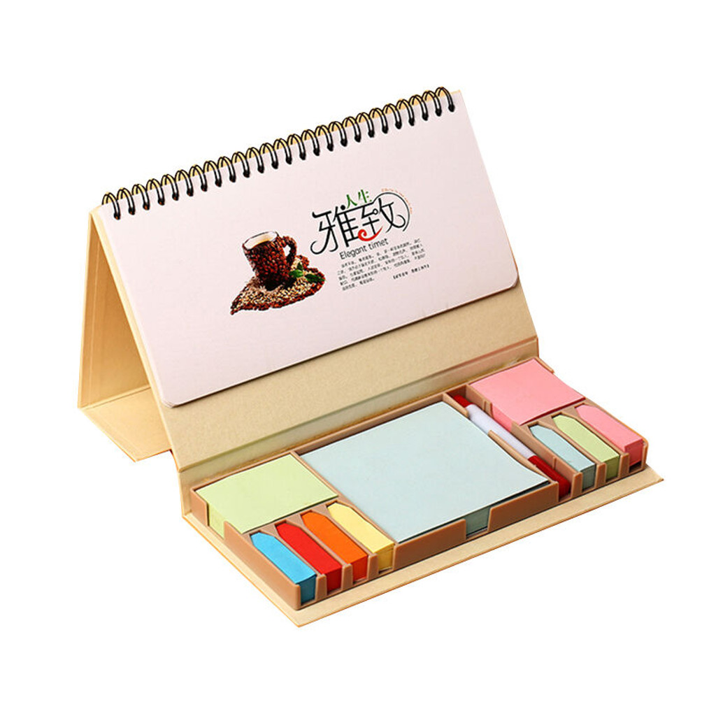 Phenomenal Fpa1117 Brown Paper Desk Calendar With Sticky Notes Download Free Architecture Designs Terchretrmadebymaigaardcom