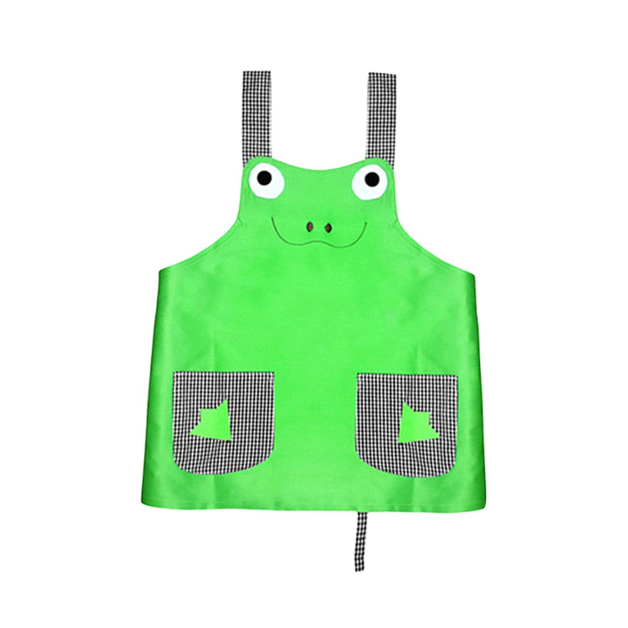 Apa1305 Cartoon Frog Kids Apron Inkvia