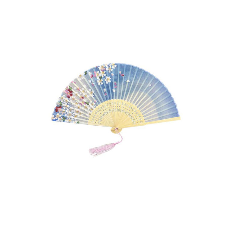 MOR3151 Women's Foldable Hand Fan with Hollow Out Ribs