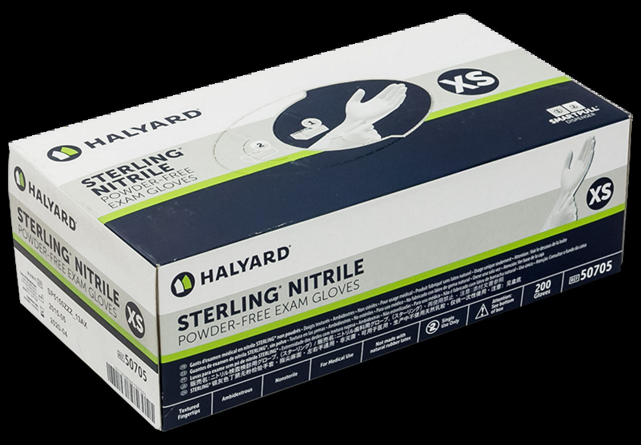 Halyard Sterling Nitrile Exam Glove Box