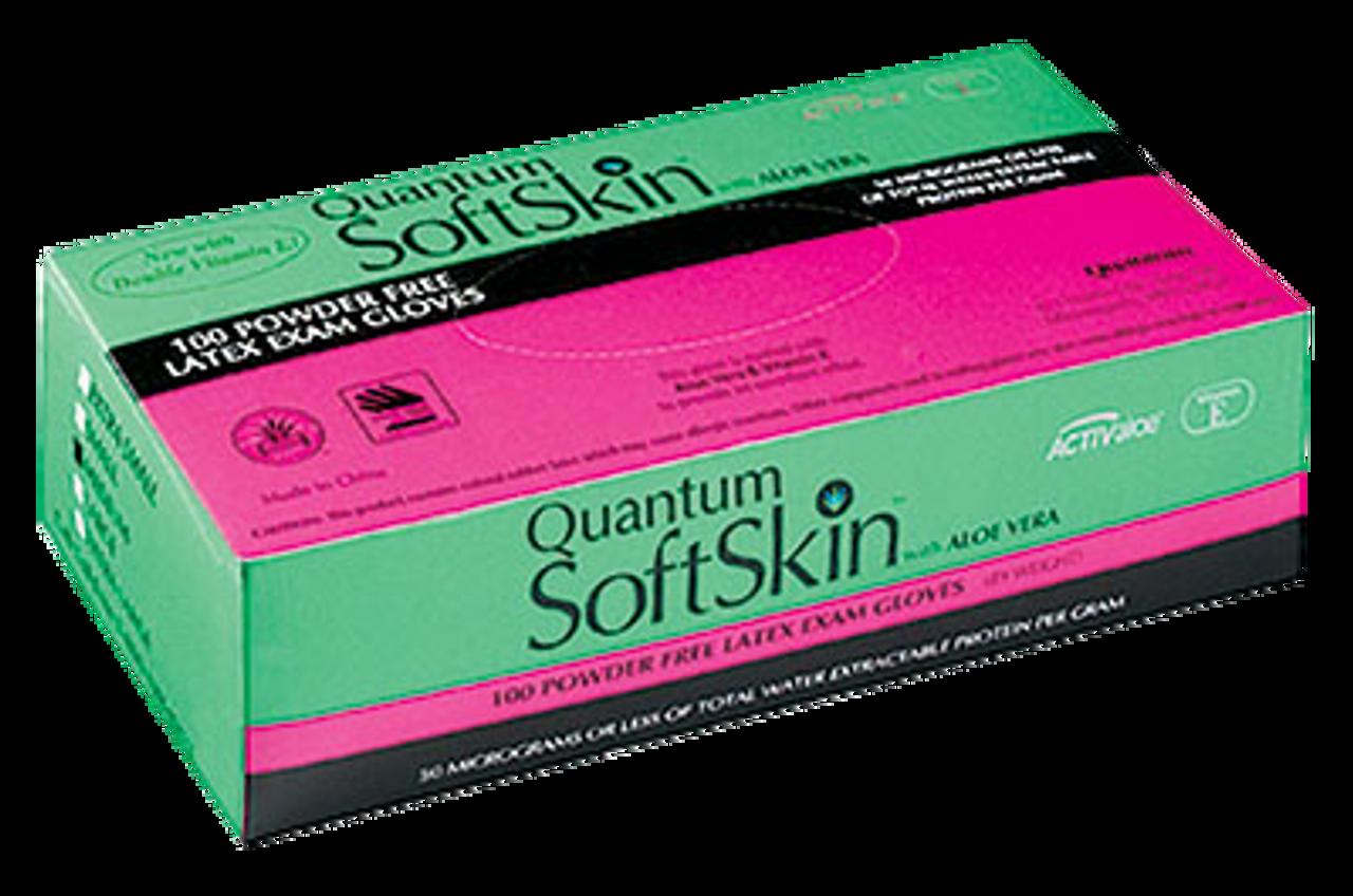 Quantum SoftSkin PF Latex with Aloe Vera and Vitamin E, $12.97 per 100 gloves, 10 boxes of 100 per case