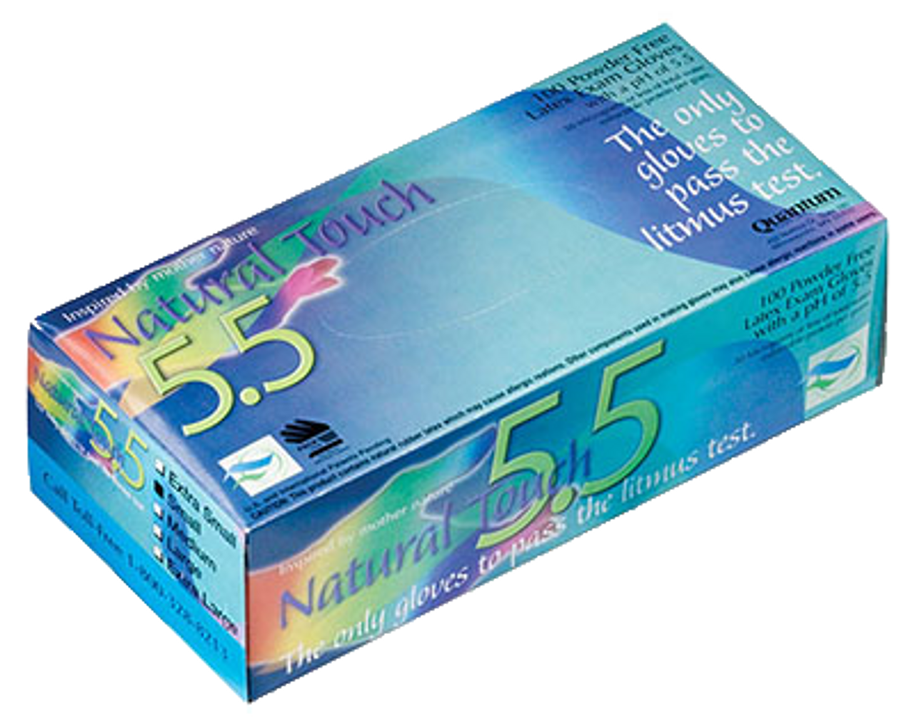 Natural Touch 5.5, PF Latex Exam Gloves, $12.97 per 100 gloves, 10 boxes of 100 per case