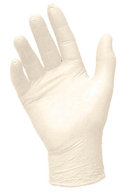 Semi transparent vinyl glove