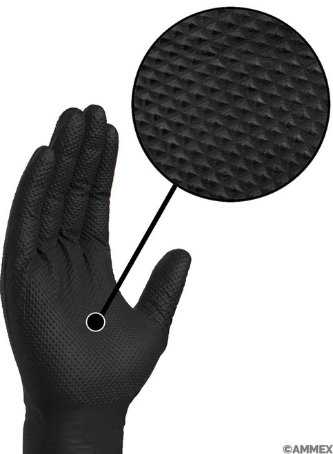 Gloveworks® HD Black Nitrile Industrial Glove, $27.63 per 100 gloves, 10 boxes of 100 per case