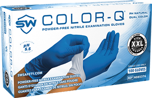Color-Q pH Natural Nitrile Powder-Free Exam Gloves, $10.78 per 100 gloves, 10 boxes of 100 per case