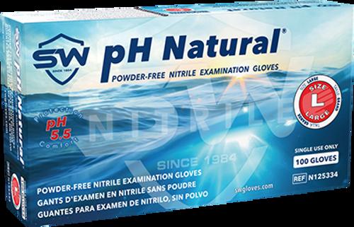 pH Natural Nitrile Powder-Free Exam Gloves, $10.34 per 100 gloves, 10 boxes of 100 per case