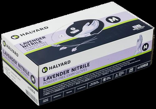 Halyard Lavender Nitrile Exam Glove Dispenser Box