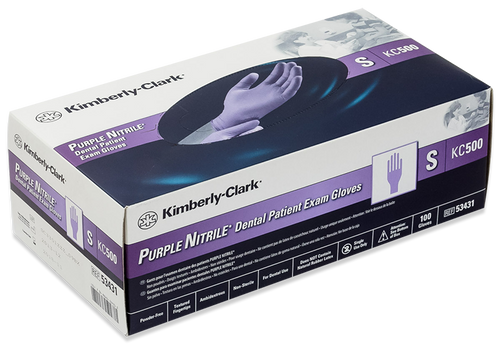 Kimberly Clark (Halyard) Purple Nitrile Exam Glove Box