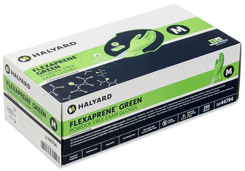 Halyard Flexaprene Green Exam Glove box