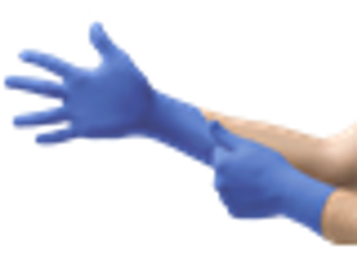 Microflex N27 Series nitrile gloves stretched