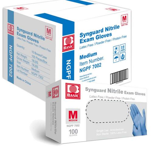 Synguard Powder Free Nitrile Exam Gloves