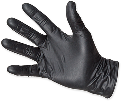 Quantum Black Nitrile Exam Gloves, $14.97 per 100 gloves, 10 boxes of 100 per case
