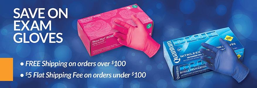 low prices on exam gloves