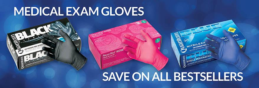 black exam gloves
