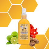 Natural Bug Repellent - 3.3oz  Naturally protect baby and the whole family from biting insects and irritation.  Free of deet and other chemicals.  Won't sting or irritate the skin.  Sprays and rubs in easily.  Contains geranium, lemon, cedarwood and citronella oils.  Chemical free, non-irritating, hypoallergenic and paraben free.  TSA Travel size approved (3.3 oz/98ml)  Apply evenly the exposed skin areas and re-apply at frequent intervals