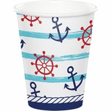 Nautical Paper Hot/Cold Cups - 9oz