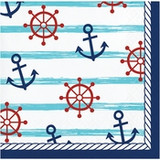 Nautical 2-Ply Beverage Napkins