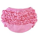 AnnLoren Baby & Toddler Girls Pink Knit Ruffled Butt Bloomer Diaper Cover (3-24 Mo)