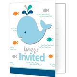 Lil Spout Blue Whale Party Invitations