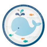 """Lil Spout Blue Whale Paper Cake/Dessert Plates - 7"""""""
