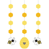 Bumblebee Baby Shower Hanging Decorations (3 ct)