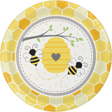 Bumblebee Baby Shower Lunch/Dinner Plates - 9""