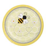 """Bumblebee Baby Shower Dessert Plates - 7"""""""