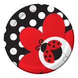 "Ladybug Fancy Paper Cake/Dessert Plates - 7"""