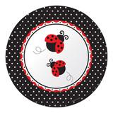 "Ladybug Fancy Paper Banquet Plates - 10.25"""
