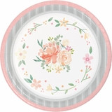 """Country Floral Paper Banquet Plates - 10"""""""