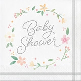 Country Floral Baby Shower Luncheon Napkins