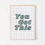 You Got This Art Print   Boys Checkered