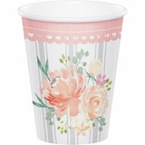 Country Floral Cups - 9oz