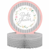 Country Floral Baby Shower Centerpiece