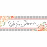 Country Floral Large Baby Shower Banner