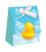 Bubble Bath Diecut Favor Bags with Ribbon