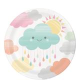 """Clouds Baby Shower Dessert Plates - 7"""""""
