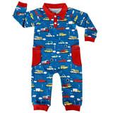 AnnLoren Automobile Cars Trucks Long Sleeve Baby/Toddler Boys Romper Toddler