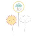 Clouds Baby Shower DIY Centerpieces Sticks