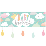 Clouds Baby Shower Giant Banner