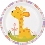 "Happi Jungle Giraffe Dessert Plates - 7"""