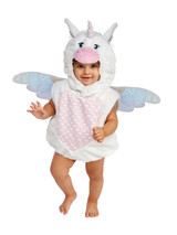 Infant Unicorn Costume (0 - 9 Months)  Your Little One Will Look Absolutely Adorable In This Magical Unicorn Costume!  Soft One Piece Jumpsuit Includes Attached Mitts, Booties And Hood.  Made From A Lightweight Baby Blanket Material.  Spacious Enough To Pull Over Warm Clothes During Cold Weather.  Hand Wash/Line Dry. Do Not Iron.  Perfect For Halloween Themed Family Photos Parties And Any Other Dress Up Occasion.