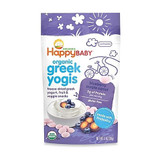 Happy Yogis Blueberry and Purple Carrot Organic Yogurt - Happy Baby (8 x 1 oz)  Our Happy Yogis are freeze-dried organic fruit and Greek yogurt drops that melt in Baby's mouth. They are truly a delicious and nutritious treat made with the goodness of organic Greek yogurt fruit and vegetables. This yummy snack offers protein, and the added boost of pre and probiotics for digestive health.   Pack Size: 8/1 OZ