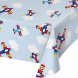 Toy Airplane Plastic Tablecloth