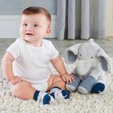 Louie the Elephant Plush Plus Socks for Baby