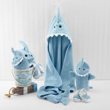 """Let the Fin Begin"" 4-Piece Bath Gift Set (Blue)"