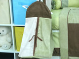 Sage & Brown Suede Crib Bedding Set