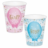 Gender Reveal Balloons Cups - 9oz