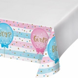 Gender Reveal Balloons Plastic Tablecloth